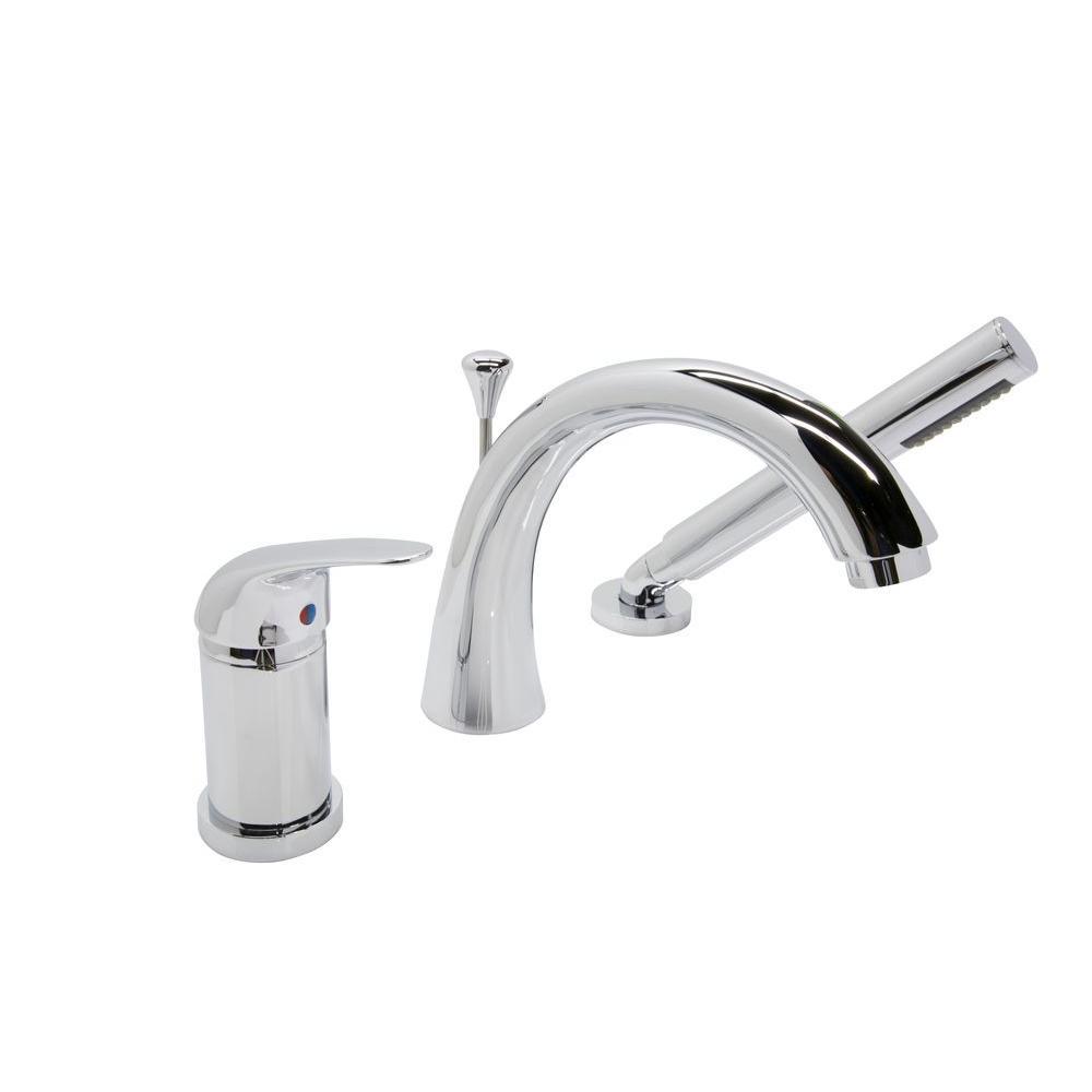 Anzzi Den Series Single Handle Deck Mount Roman Tub Faucet With in measurements 1000 X 1000