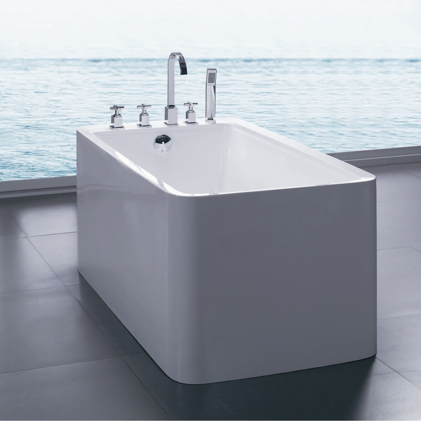 Aquatica Purescape 55 X 30 Freestanding Acrylic Bathtub Bathtubs for proportions 1338 X 1338