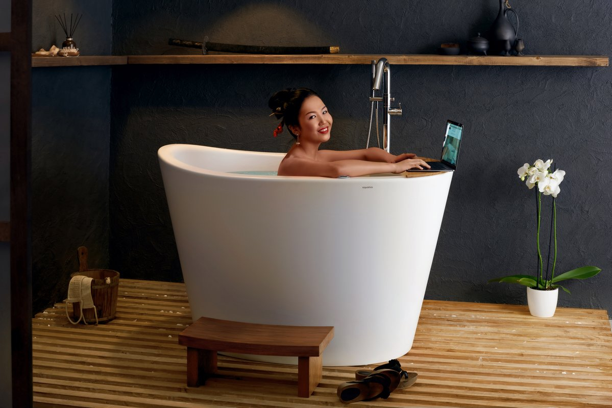 Aquatica True Ofuro Tranquility Heated Japanese Bathtub Us Version for measurements 1199 X 800