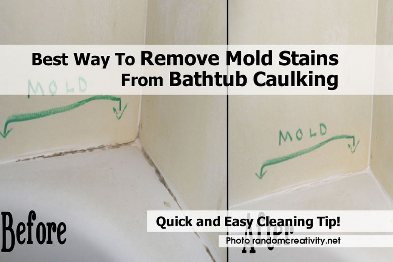 Best Way To Remove Mold Stains From Bathtub Caulking throughout sizing 1360 X 906