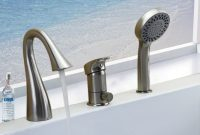 Deck Mounted 3 Pieces Bathtub Faucet Nickel Brushed Roman Tub for size 1000 X 1000