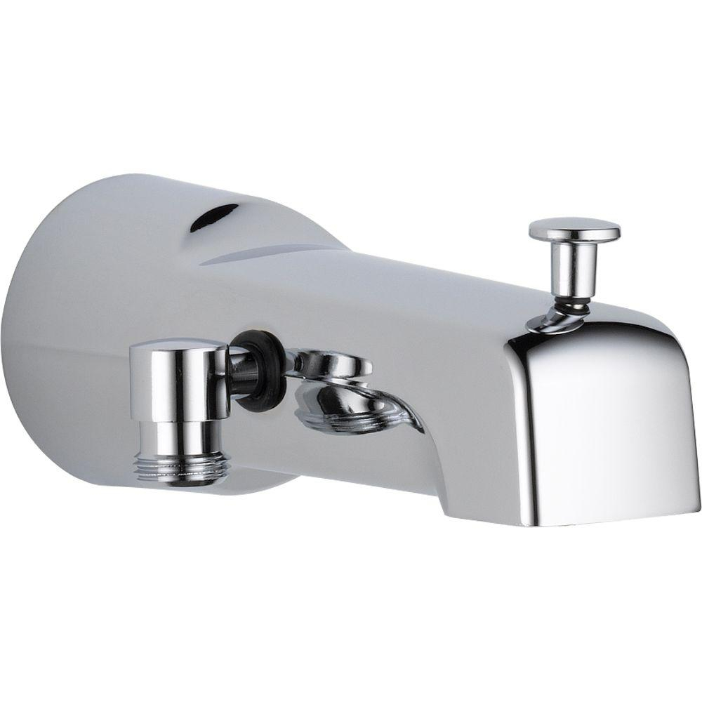Delta 65 In Long Pull Up Diverter Tub Spout In Chrome U1010 Pk intended for sizing 1000 X 1000