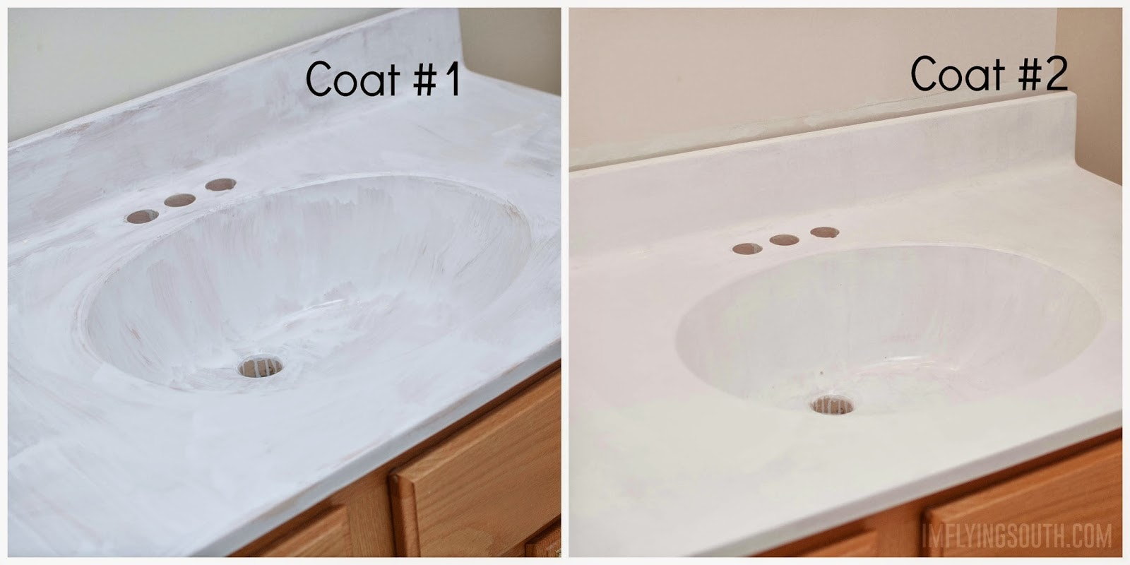 Merveilleux Epoxy Paint For Bathtub Painted Bathroom Sink And Countertop Process  Intended For Sizing 1600 X 800