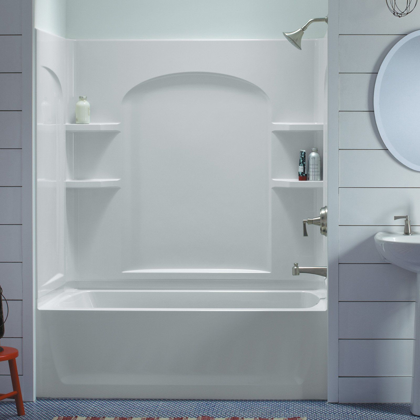 Sterling Ensemble White Vikrell Bathtub Wall Surround • Bathtub Ideas