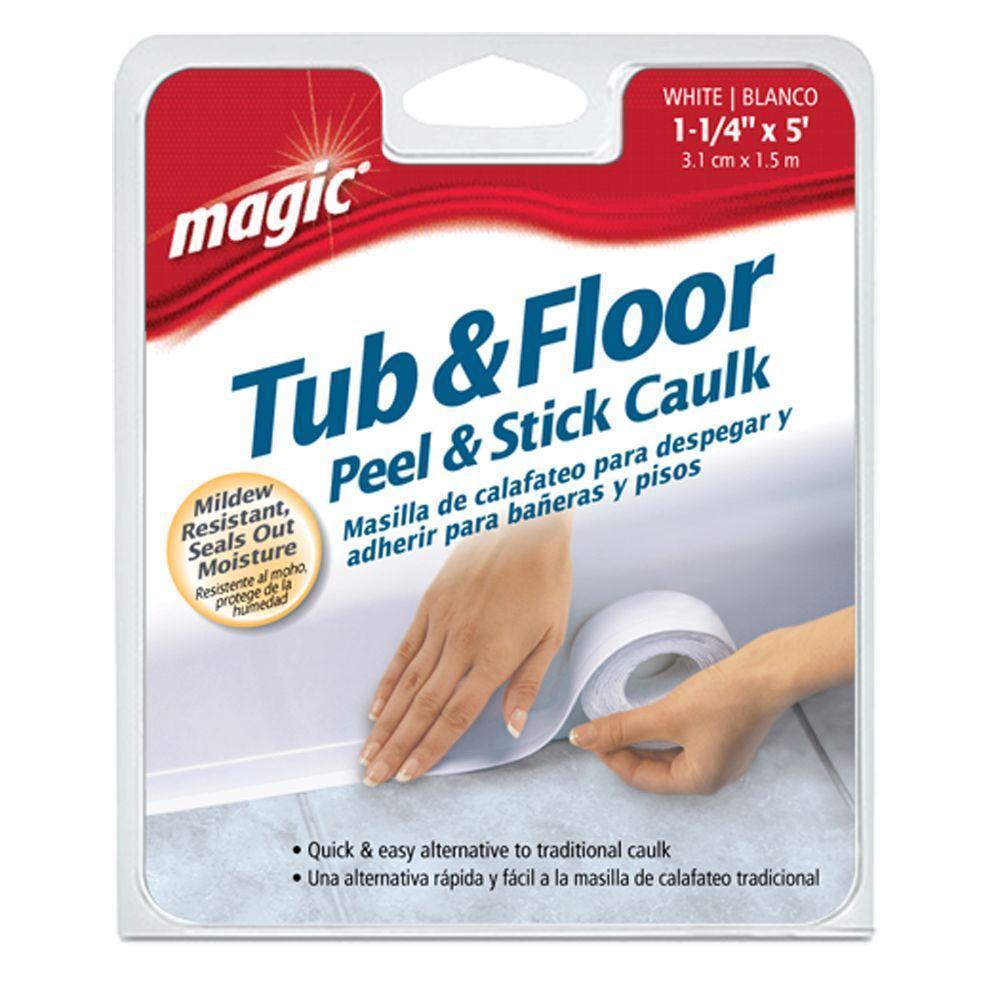 Bath tub caulk and strip