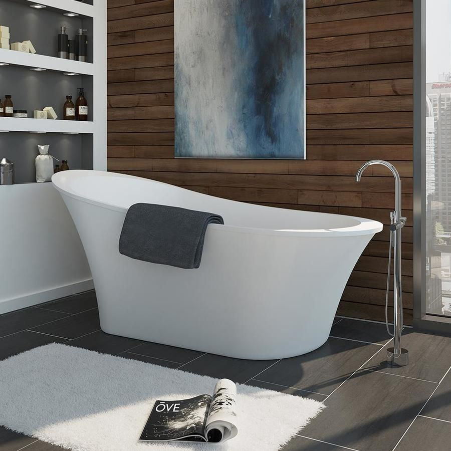 Ove Decors Rachel 70 In Gloss White Acrylic Freestanding Bathtub inside sizing 900 X 900