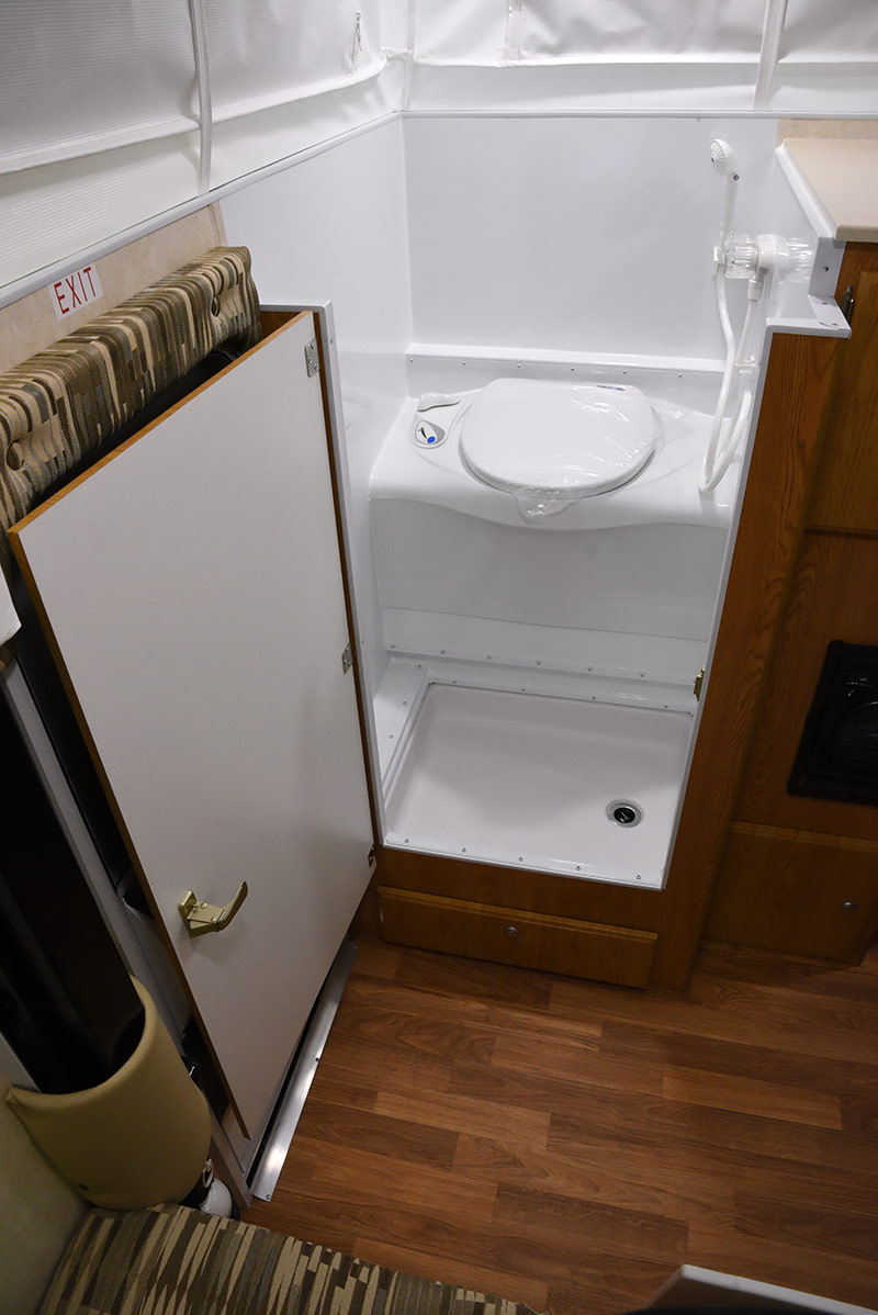 Pop Up Campers With Shower And Toilet Trailer Bathroom Showers For regarding size 800 X 1198