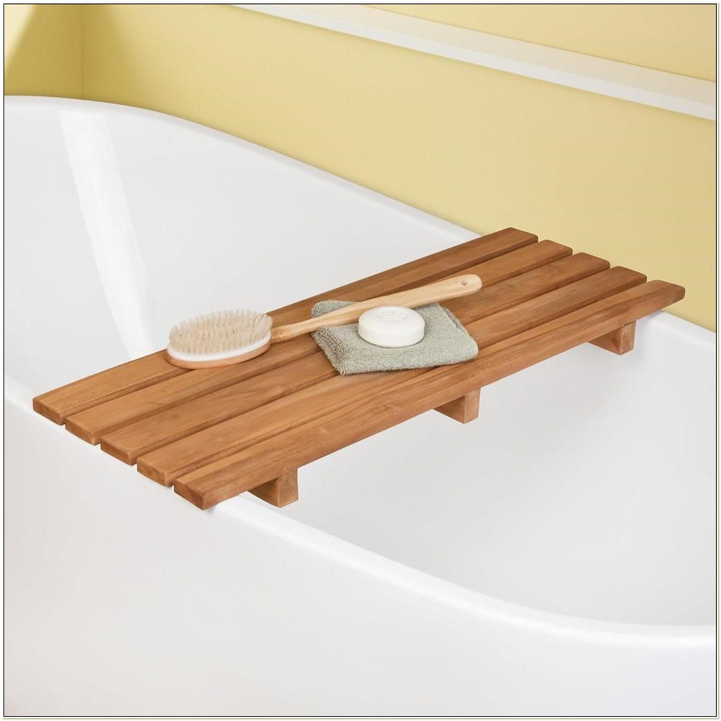 Teak Bathtub Tray Caddy • Bathtub Ideas