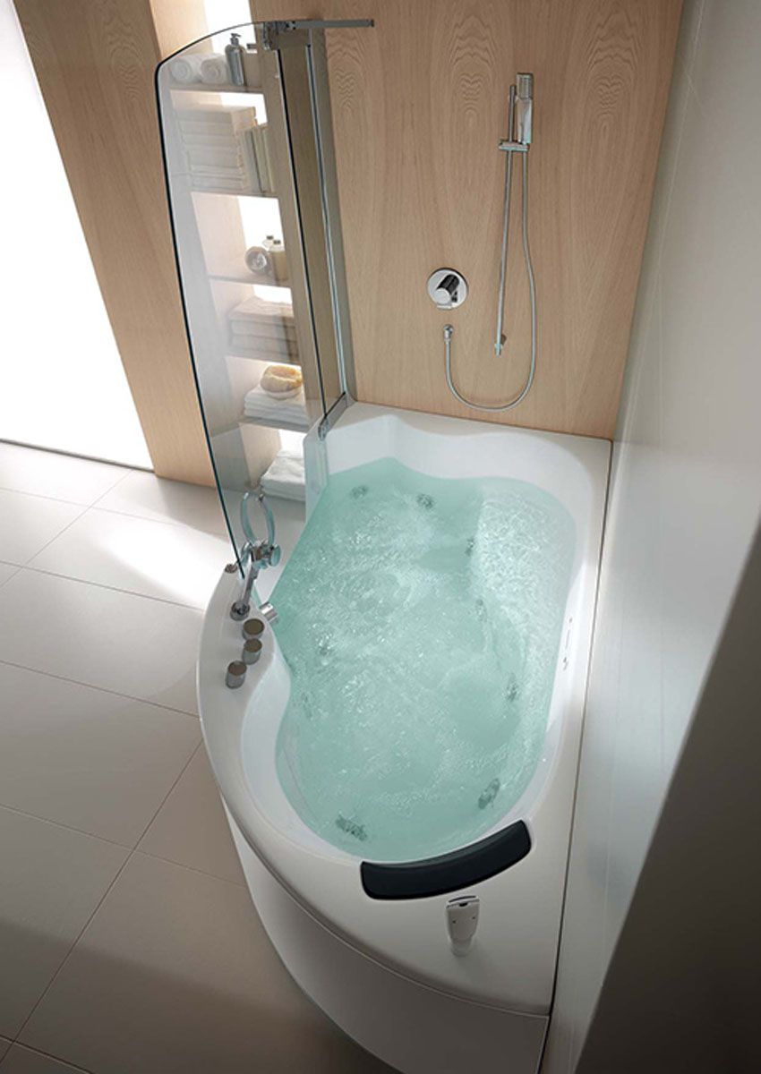 Teuco Corner Whirlpool Shower Integrates Shower With Bathtub throughout dimensions 850 X 1200