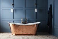 The Wye Hammered Copper Cast Iron Bateau Bath inside proportions 1400 X 955