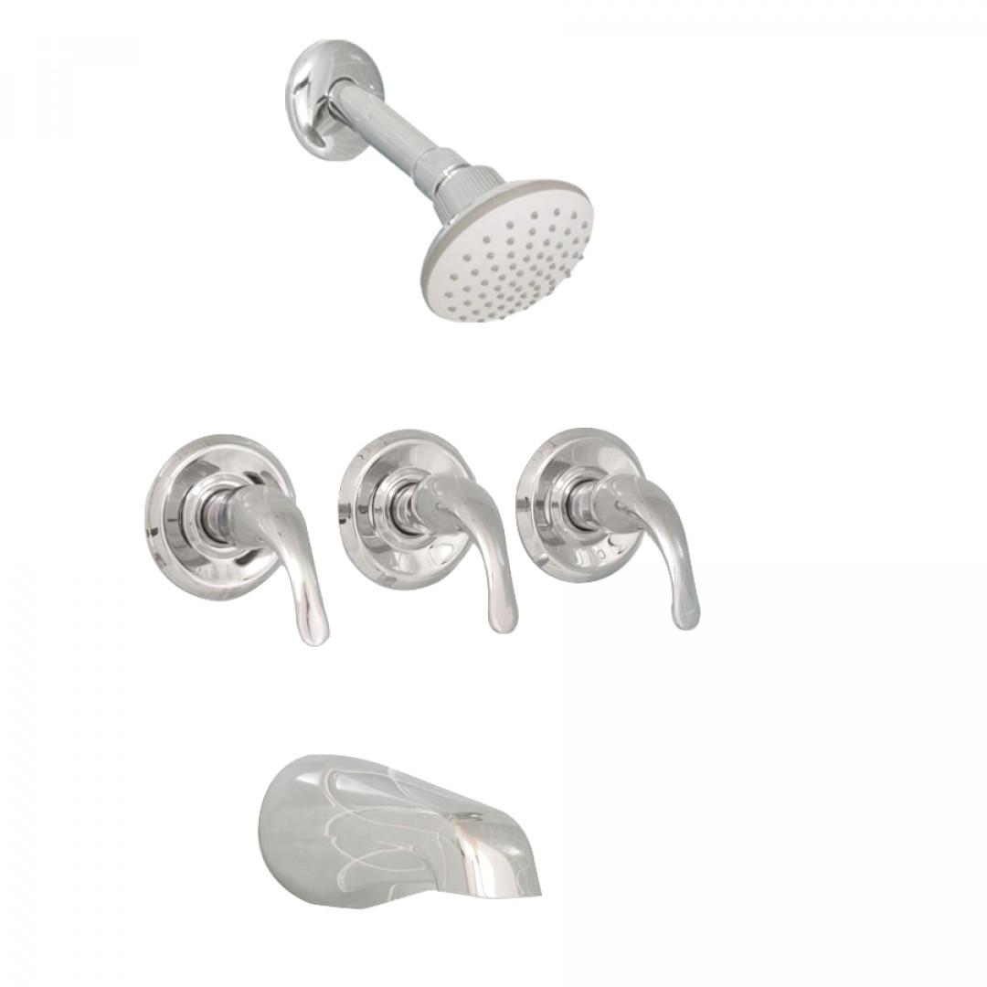 Three Handle Bathtub Shower Faucet • Bathtub Ideas