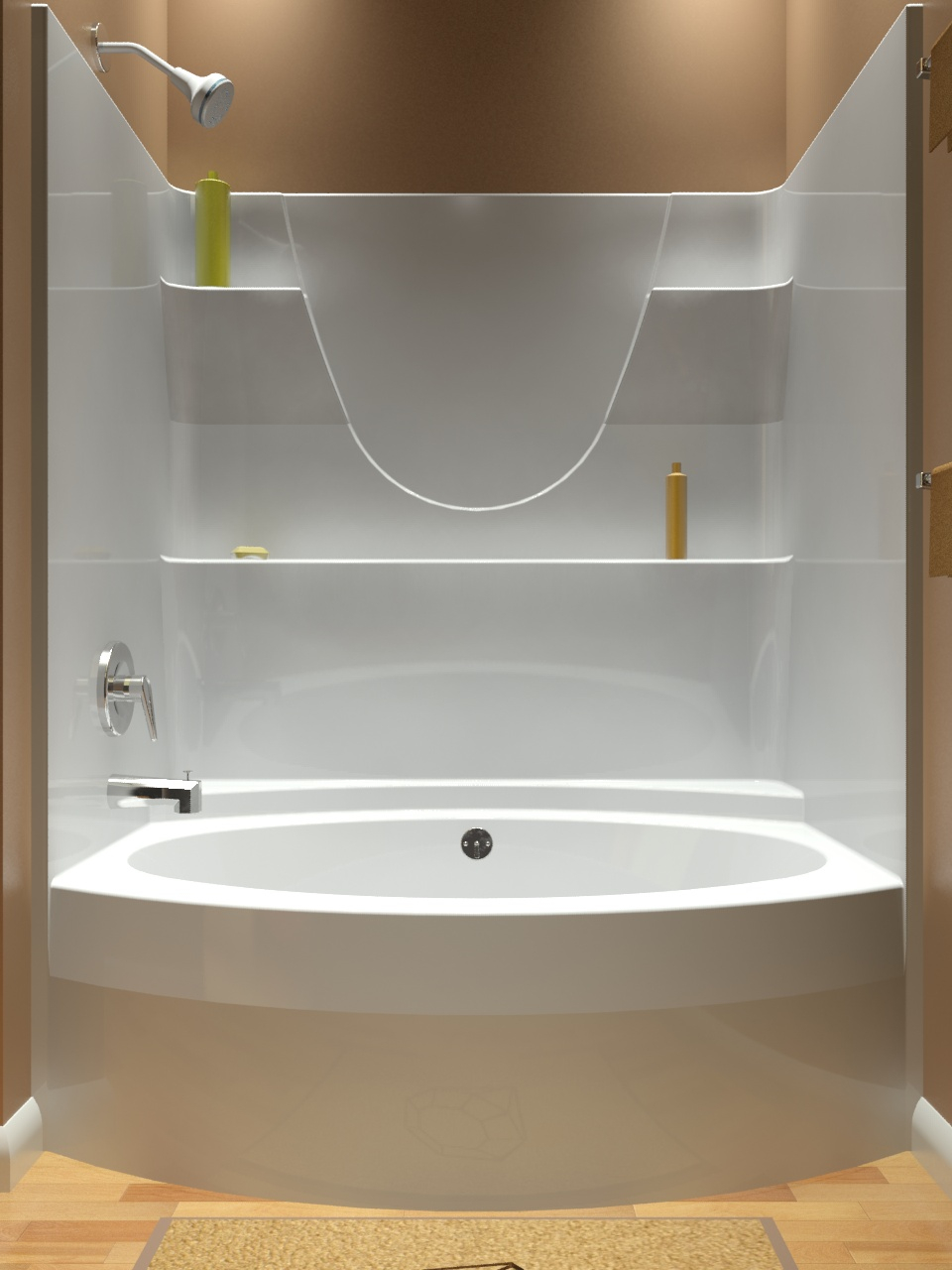 Tub And Shower One Piece with dimensions 960 X 1280
