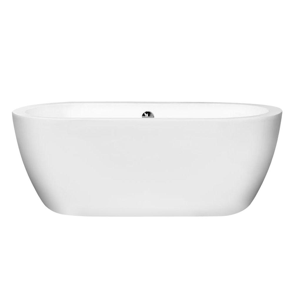 Wyndham Collection Soho 5 Ft Center Drain Soaking Tub In White intended for size 1000 X 1000