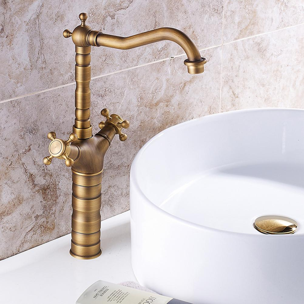 2019 Antique Brass Faucet Hot And Cold Water Kitchen Basin Sink Wc inside proportions 1002 X 1002