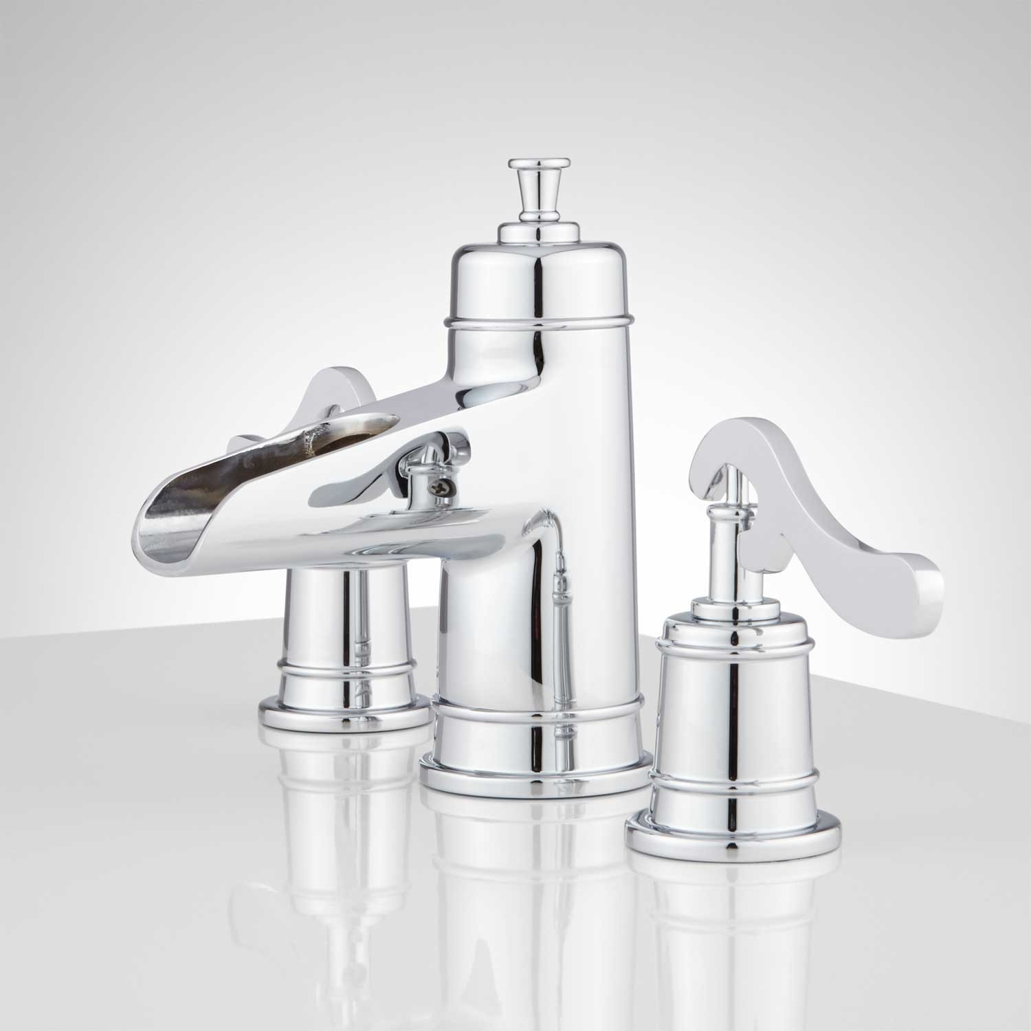 3 Piece Waterfall Bathroom Faucets Euro Vanity for dimensions 1500 X 1500