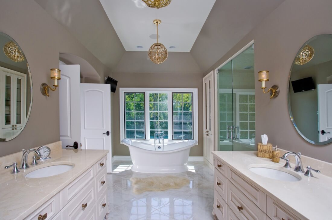 5 Ways To Get The Mixed Metallics Look In The Bathroom Freshome inside size 1100 X 730