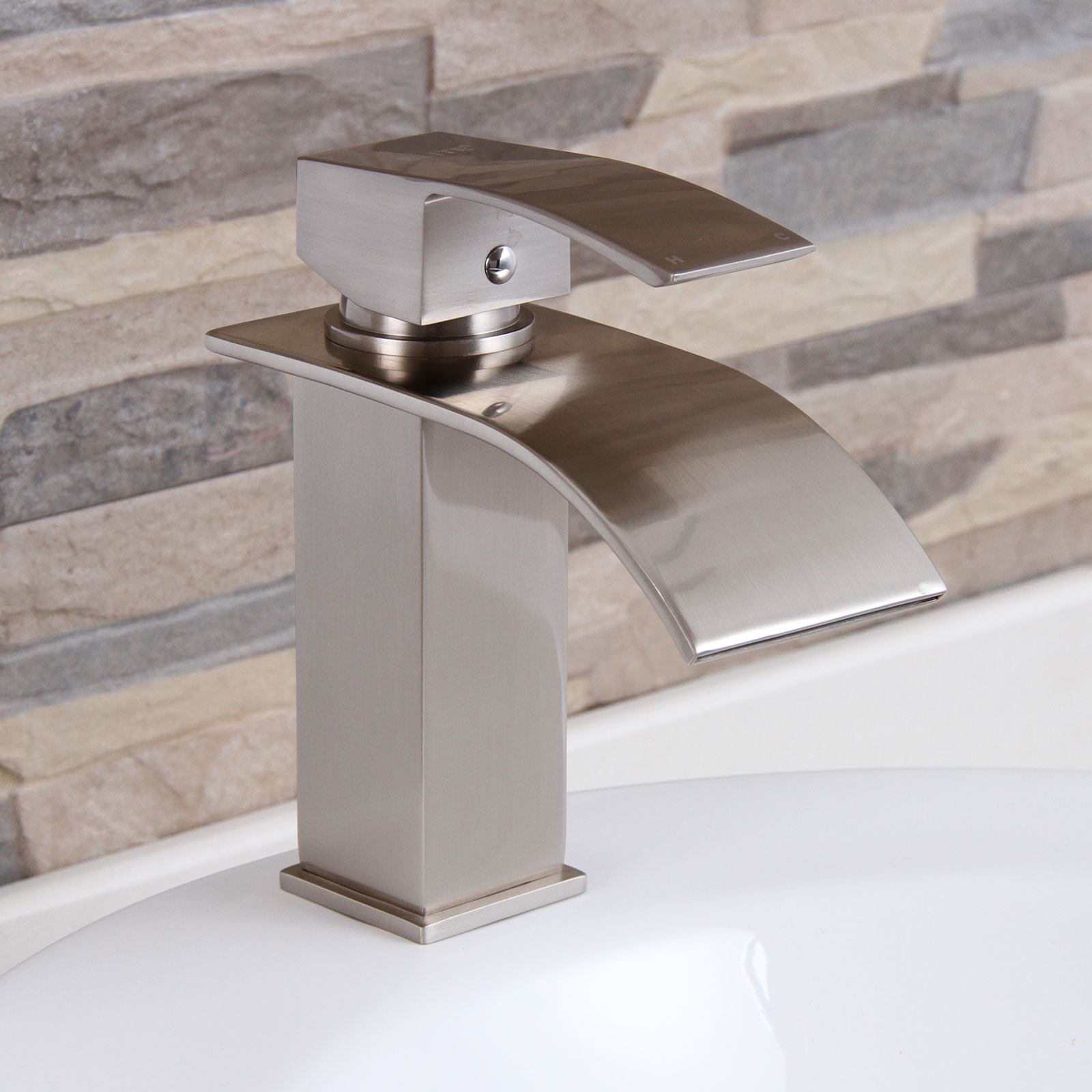 Amazing Waterfall Bathroom Faucet Brushed Nickel Related To Interior regarding sizing 1600 X 1600
