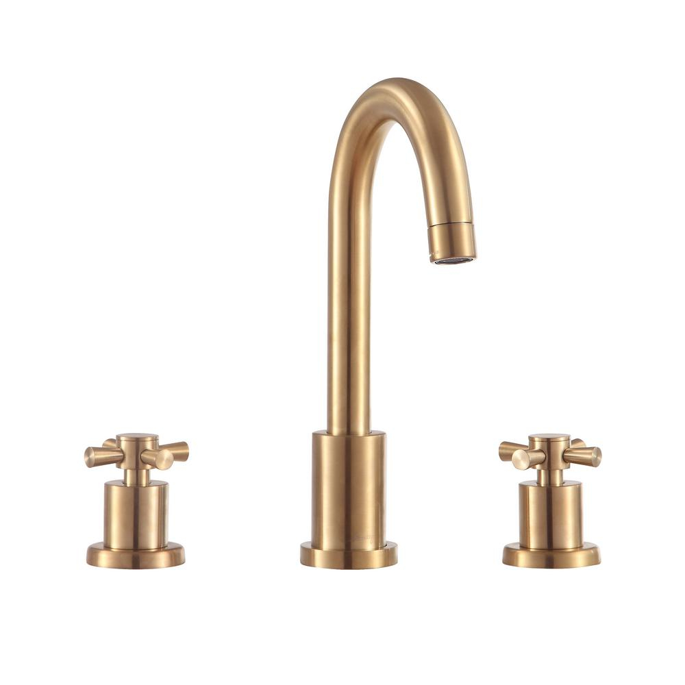 Avanity Messina 8 In Widespread 2 Handle Bathroom Faucet In Matte Gold throughout size 1000 X 1000