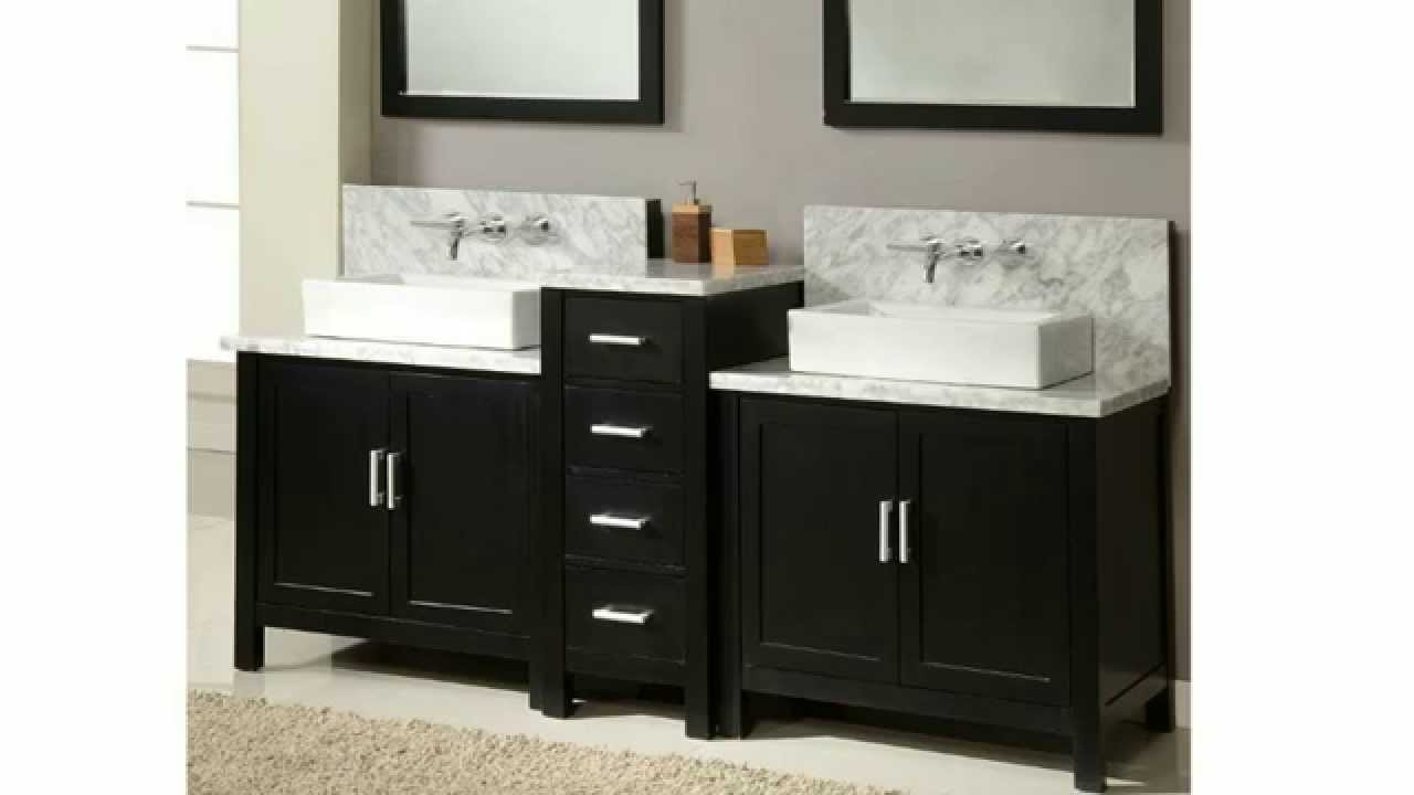 Bathroom Vanities Built For Wall Mounted Faucets Homethangs throughout size 1280 X 720