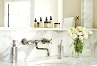 Dark Cabinetry And Wall Mounted Faucet For The Home Bathroom in dimensions 800 X 1143