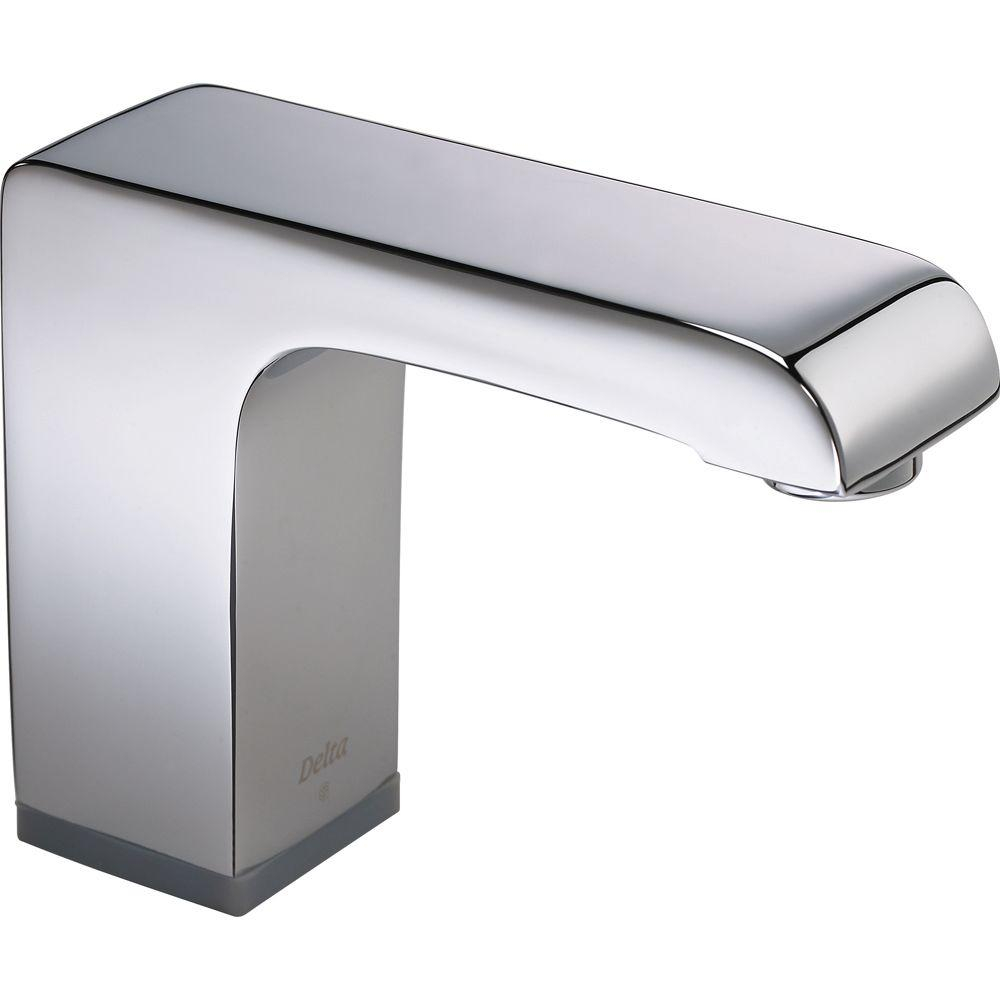 Delta Arzo Battery Powered Single Hole Touchless Bathroom Faucet with dimensions 1000 X 1000