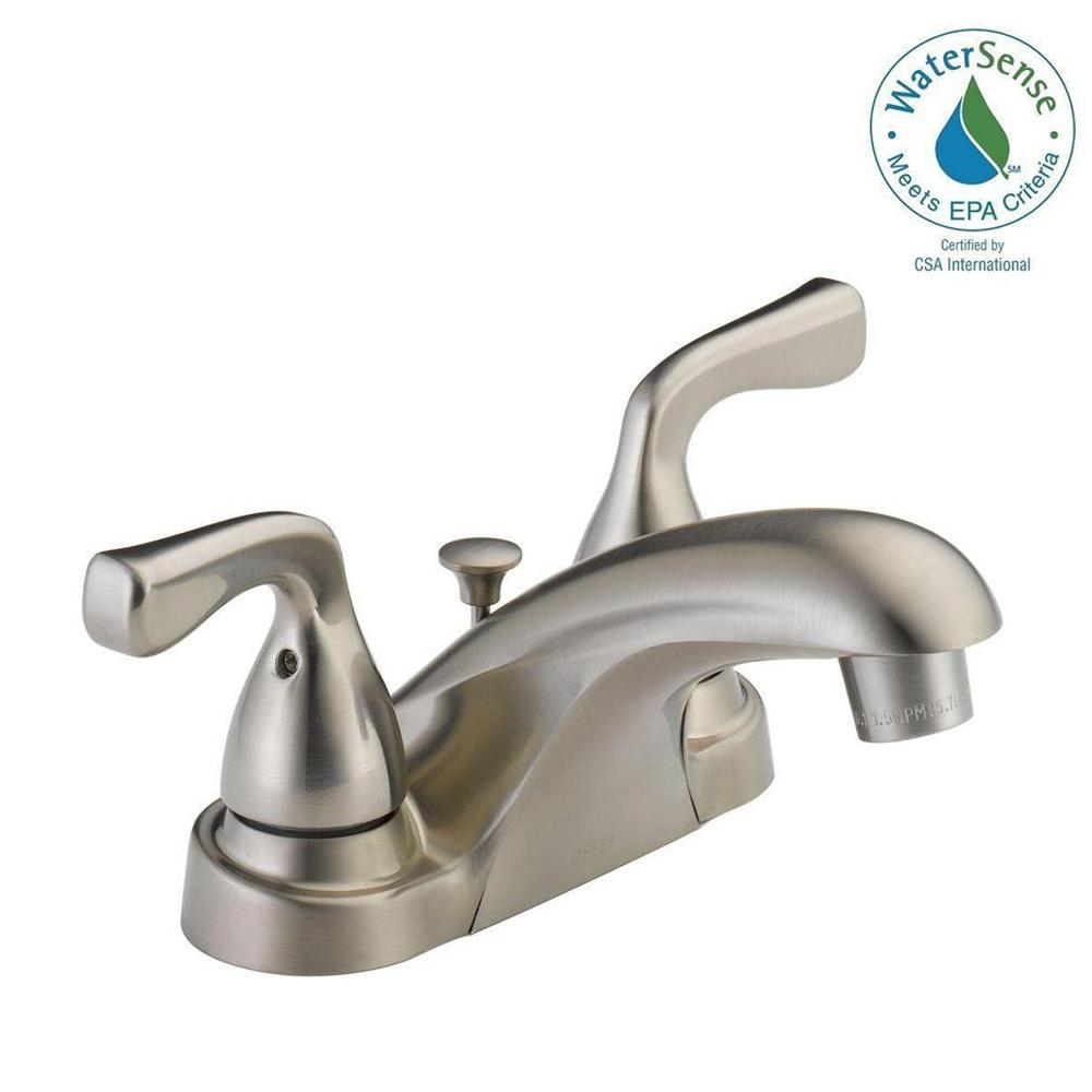 Delta Foundations 4 In Centerset 2 Handle Bathroom Faucet In Brushed Nickel in dimensions 1000 X 1000