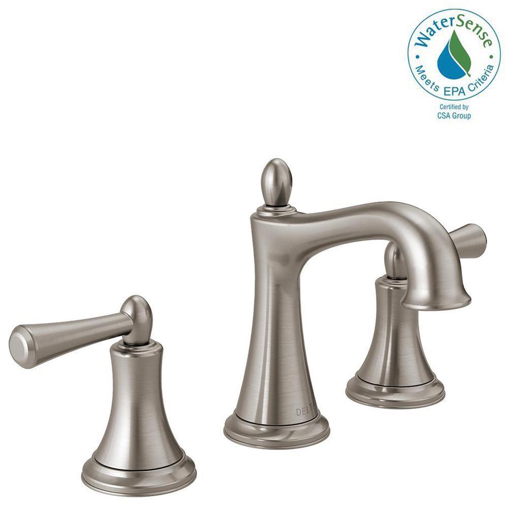 Delta Rila 8 In Widespread 2 Handle Bathroom Faucet In Spotshield in measurements 1000 X 1000