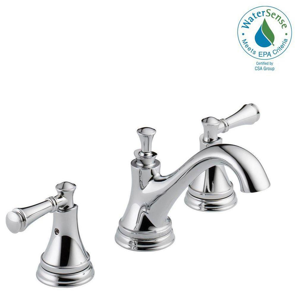 Delta Silverton 8 In Widespread 2 Handle Bathroom Faucet In Chrome inside sizing 1000 X 1000