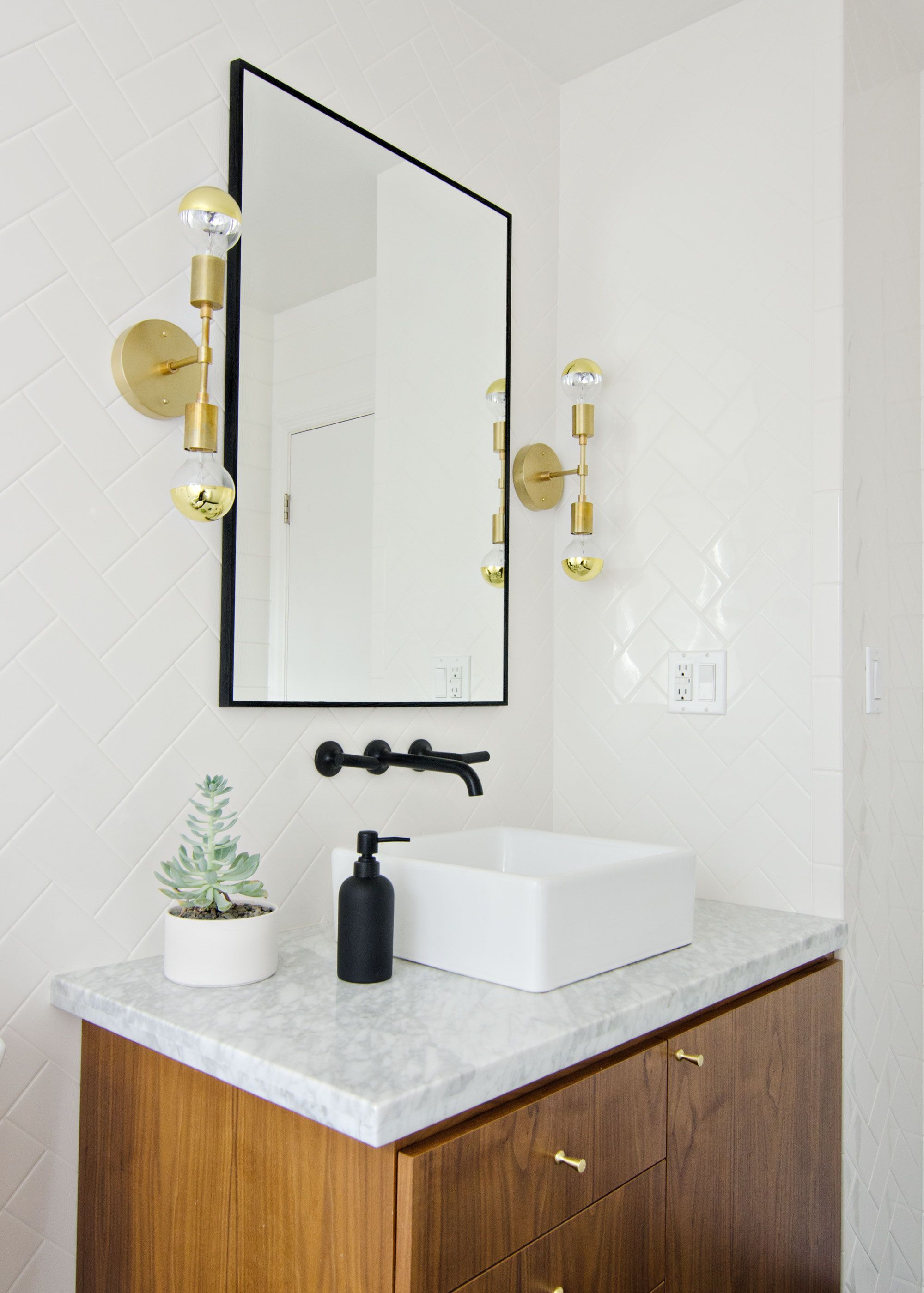 Gold And Silver Bathroom Faucets And Dilemma With My Bathroom Lights in proportions 2000 X 2800