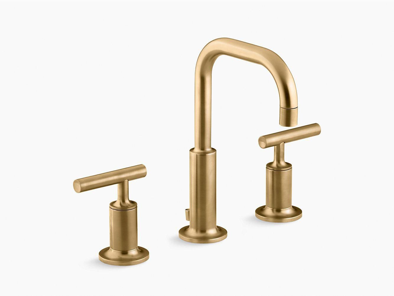 Gold Tone Bathroom Faucets Gold Bathroom Wastebasket In 2019 with regard to proportions 1334 X 1002