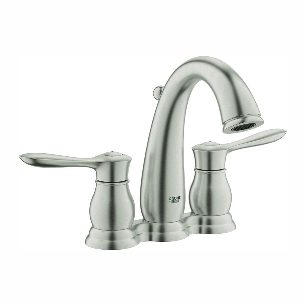 Grohe Parkfield 4 In Centerset 2 Handle Bathroom Faucet In Brushed in size 1000 X 1000