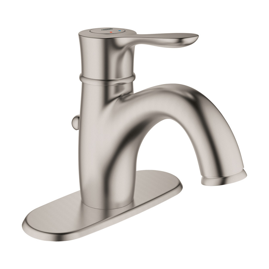 Grohe Parkfield Brushed Nickel 1 Handle Single Hole Watersense regarding size 900 X 900
