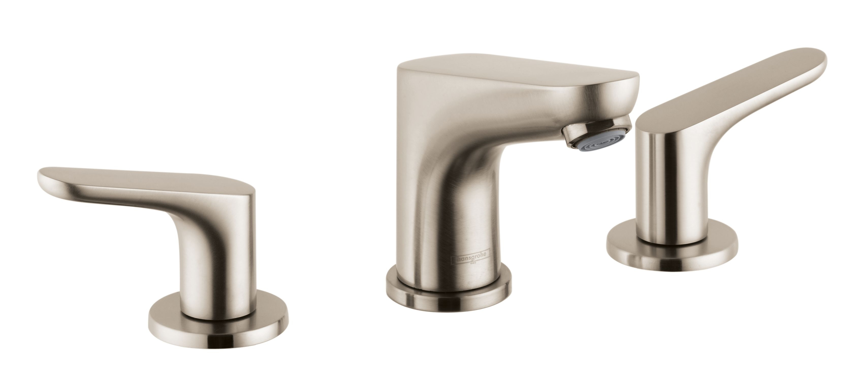 Hansgrohe 04369820 Brushed Nickel Focus 12 Gpm Widespread Bathroom within dimensions 3386 X 1467