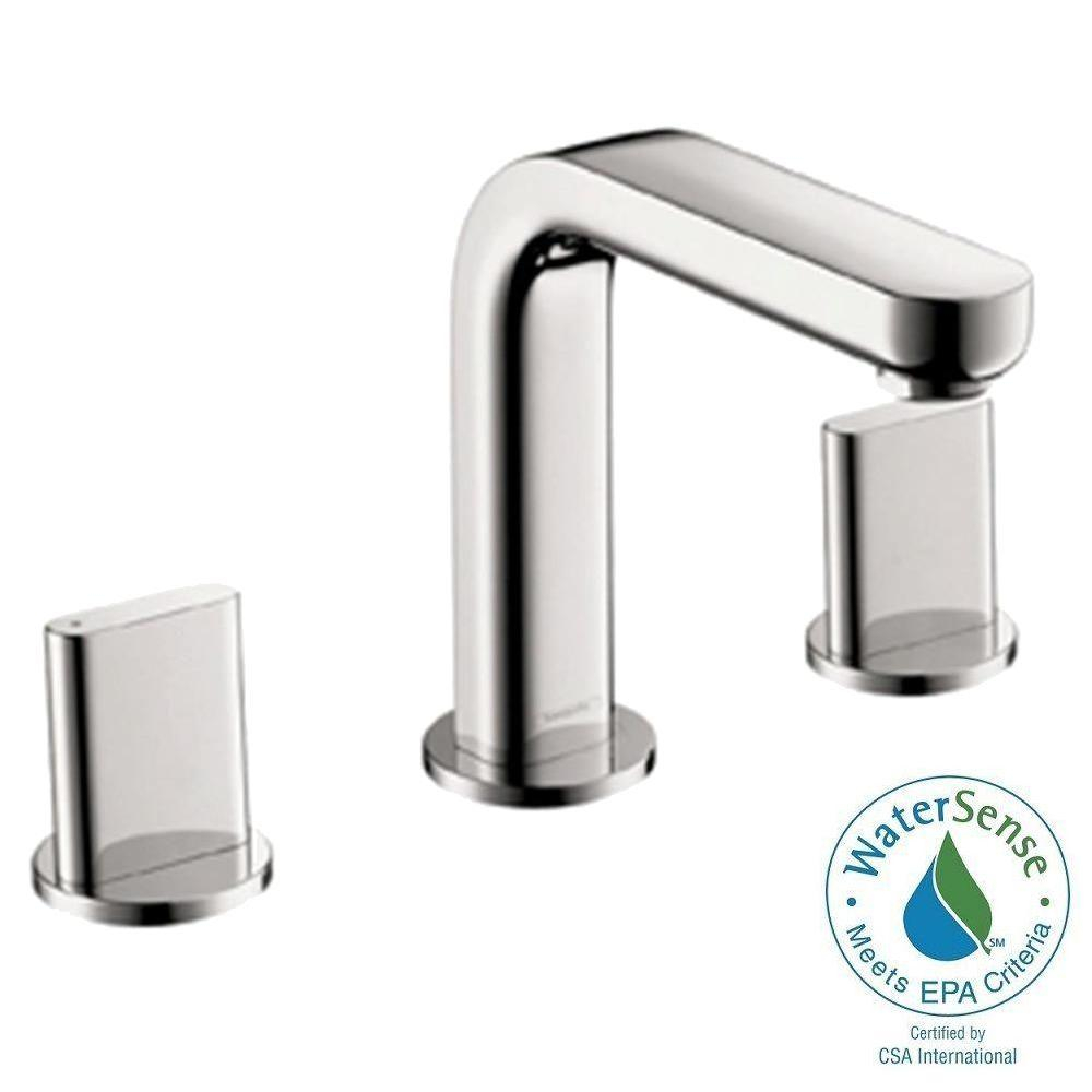 Hansgrohe Metris S 8 In Widespread 2 Handle Mid Arc Bathroom Faucet with proportions 1000 X 1000