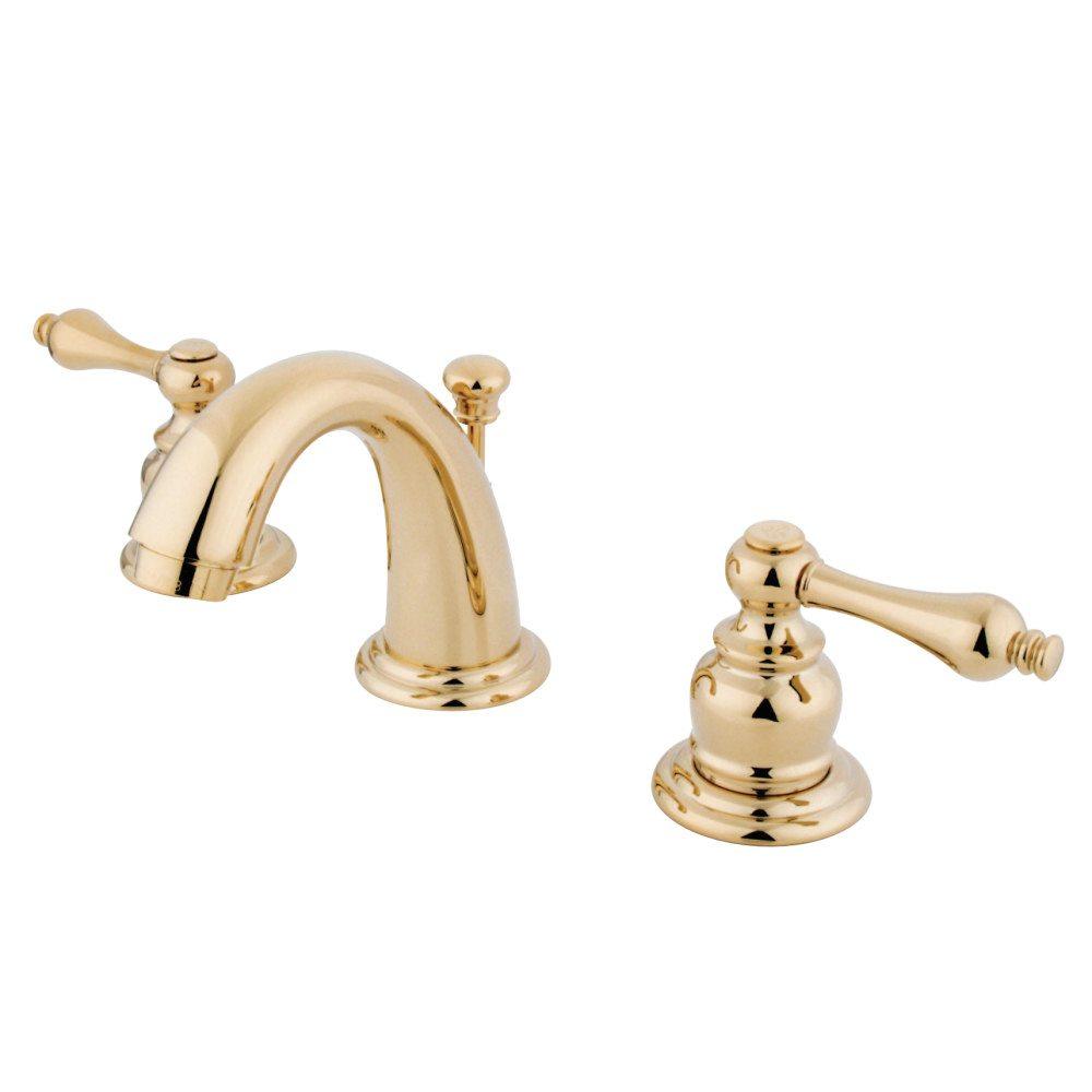 Kingston Brass Kb912al English Country Widespread Bathroom Faucet Polished Brass Kingston Brass pertaining to measurements 1000 X 1000