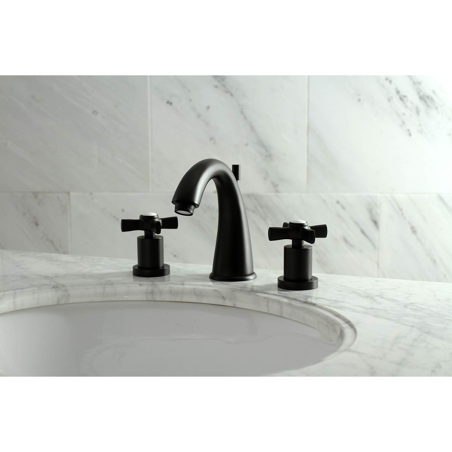 Kingston Brass Ks2960zx 8 In Widespread Bathroom Faucet Matte with proportions 1500 X 1500