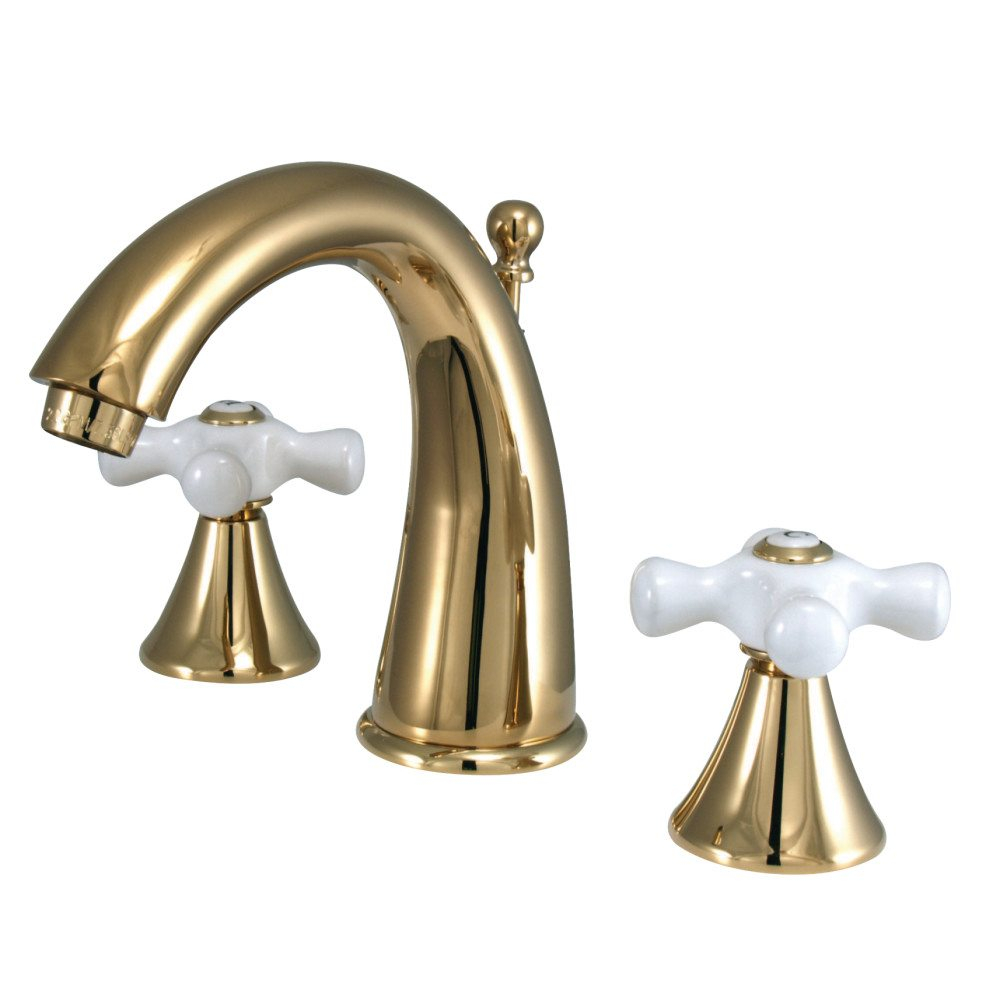 Kingston Brass Ks2972px 8 In Widespread Bathroom Faucet Polished within proportions 1000 X 1000