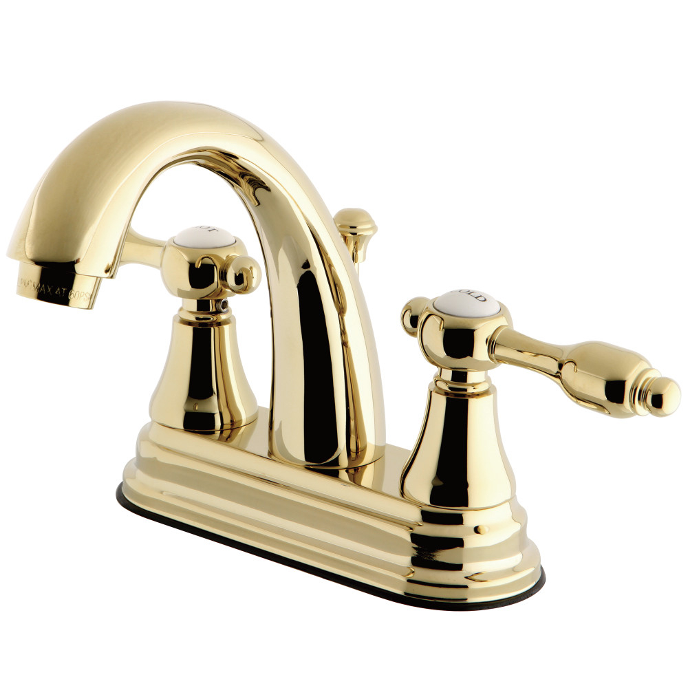 Kingston Brass Ks7612tal 4 In Centerset Bathroom Faucet Polished intended for size 1000 X 1000