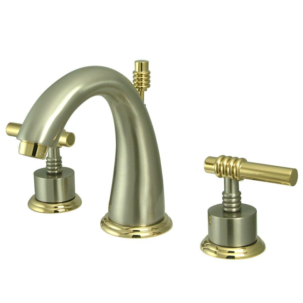 Kingston Brass Milano 8 In Widespread 2 Handle Mid Arc Bathroom throughout sizing 1000 X 1000