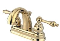 Kingston Brass Restoration 4 In Centerset 2 Handle Mid Arc Bathroom Faucet In Polished Brass regarding measurements 1000 X 1000