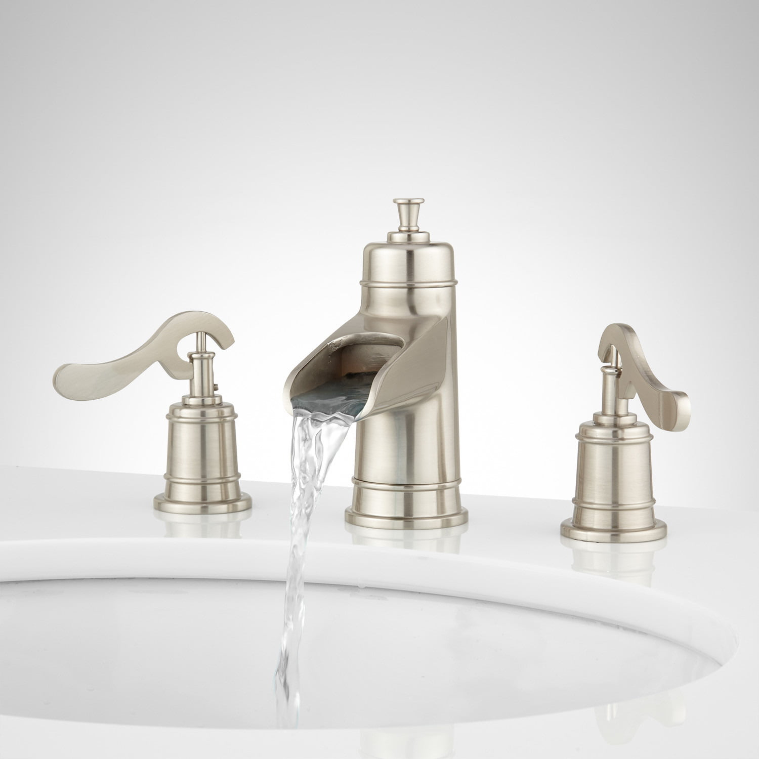 Melton Widespread Waterfall Bathroom Faucet Bathroom intended for sizing 1500 X 1500