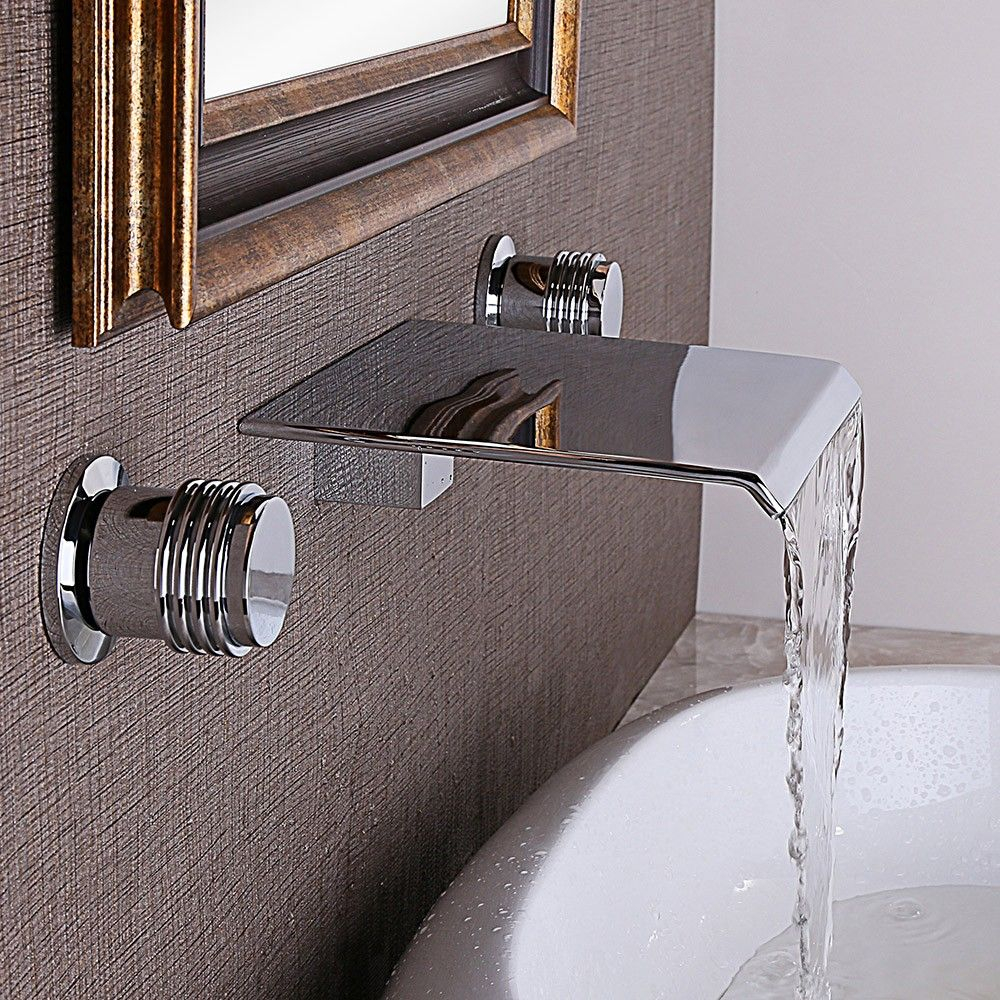 Moda Waterfall Double Handle Wall Mounted Faucet Fitures And with regard to proportions 1000 X 1000
