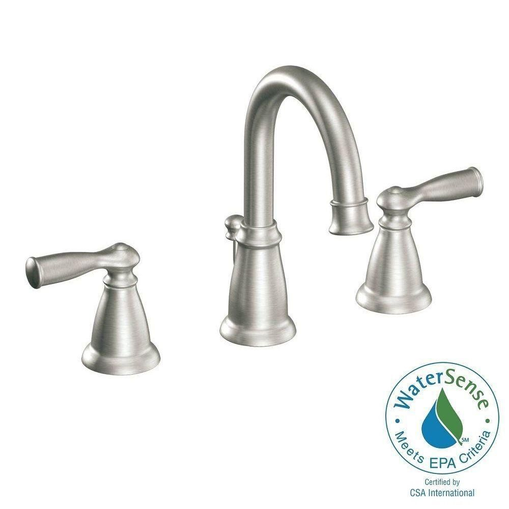 Moen Banbury 8 In Widespread 2 Handle High Arc Bathroom Faucet In pertaining to size 1000 X 1000