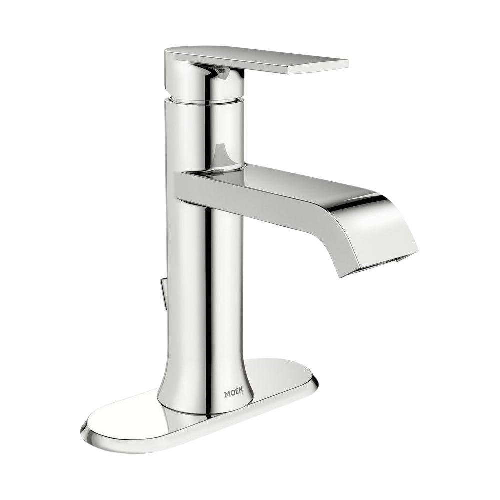 Moen Genta Single Hole Single Handle Bathroom Faucet In Chrome for proportions 1000 X 1000