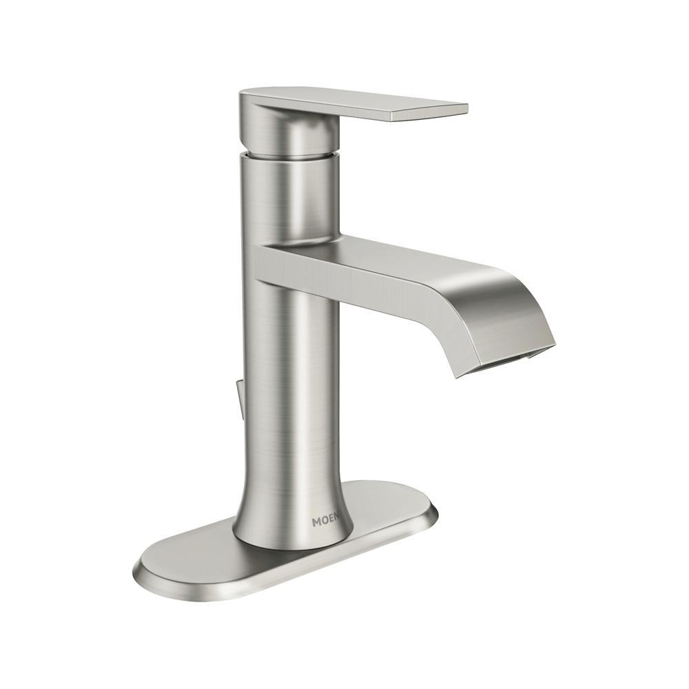 Moen Genta Single Hole Single Handle Bathroom Faucet In Spot Resist Brushed Nickel pertaining to proportions 1000 X 1000