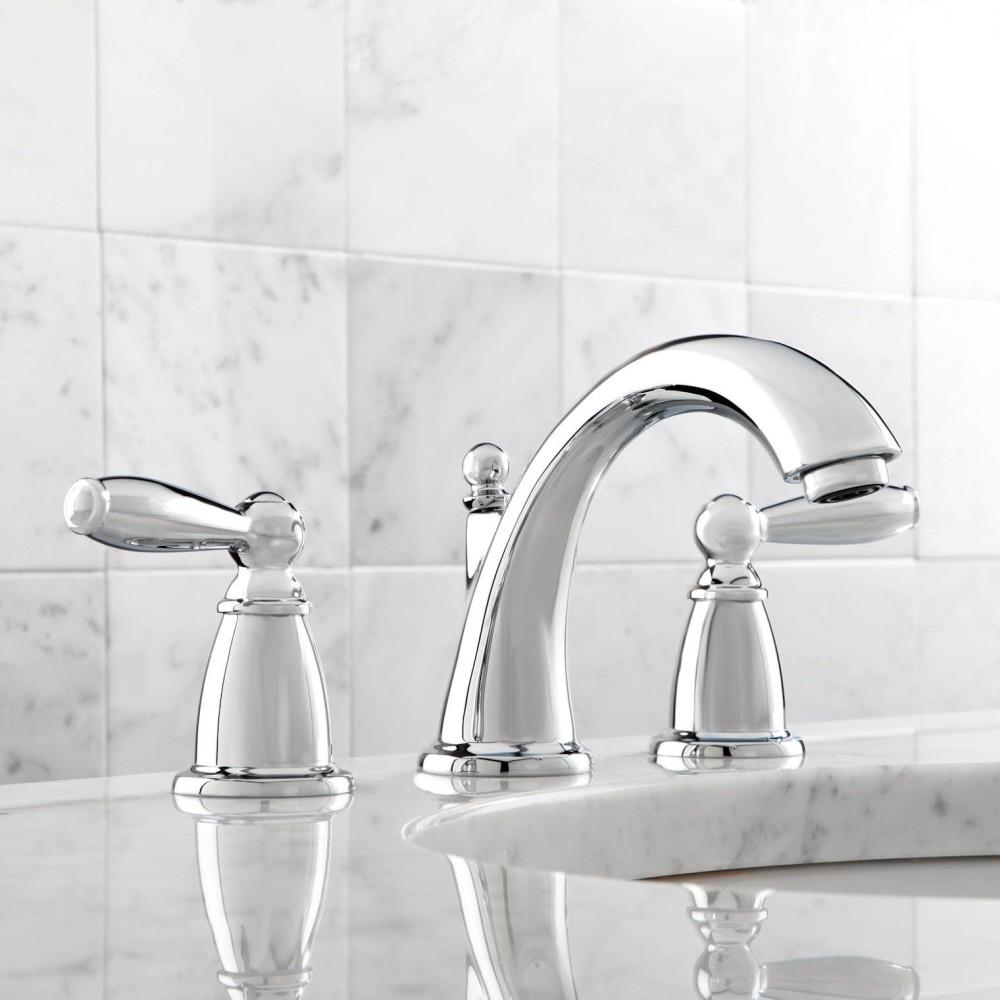Moen T6620bn Brantford Brushed Nickel Two Handle Widespread Bathroom within sizing 1000 X 1000