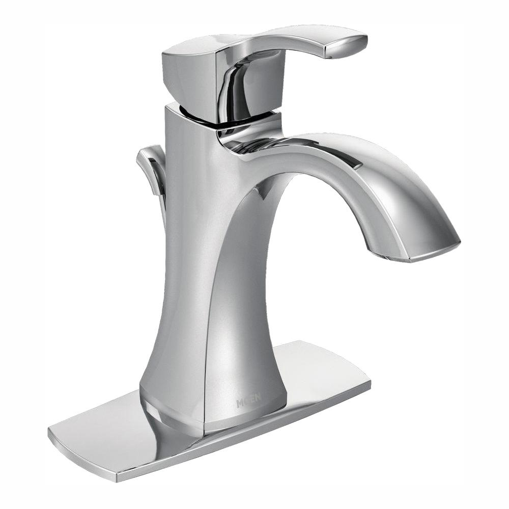 Moen Voss Single Hole Single Handle High Arc Bathroom Faucet In Chrome pertaining to dimensions 1000 X 1000