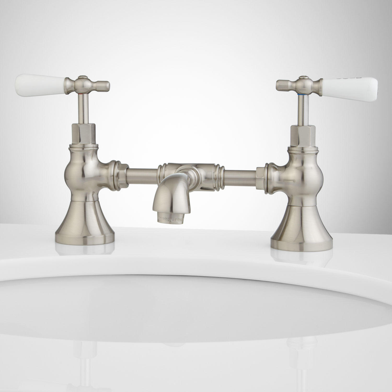 Monroe Bridge Bathroom Faucet Porcelain Lever Handles Bathroom throughout dimensions 1500 X 1500