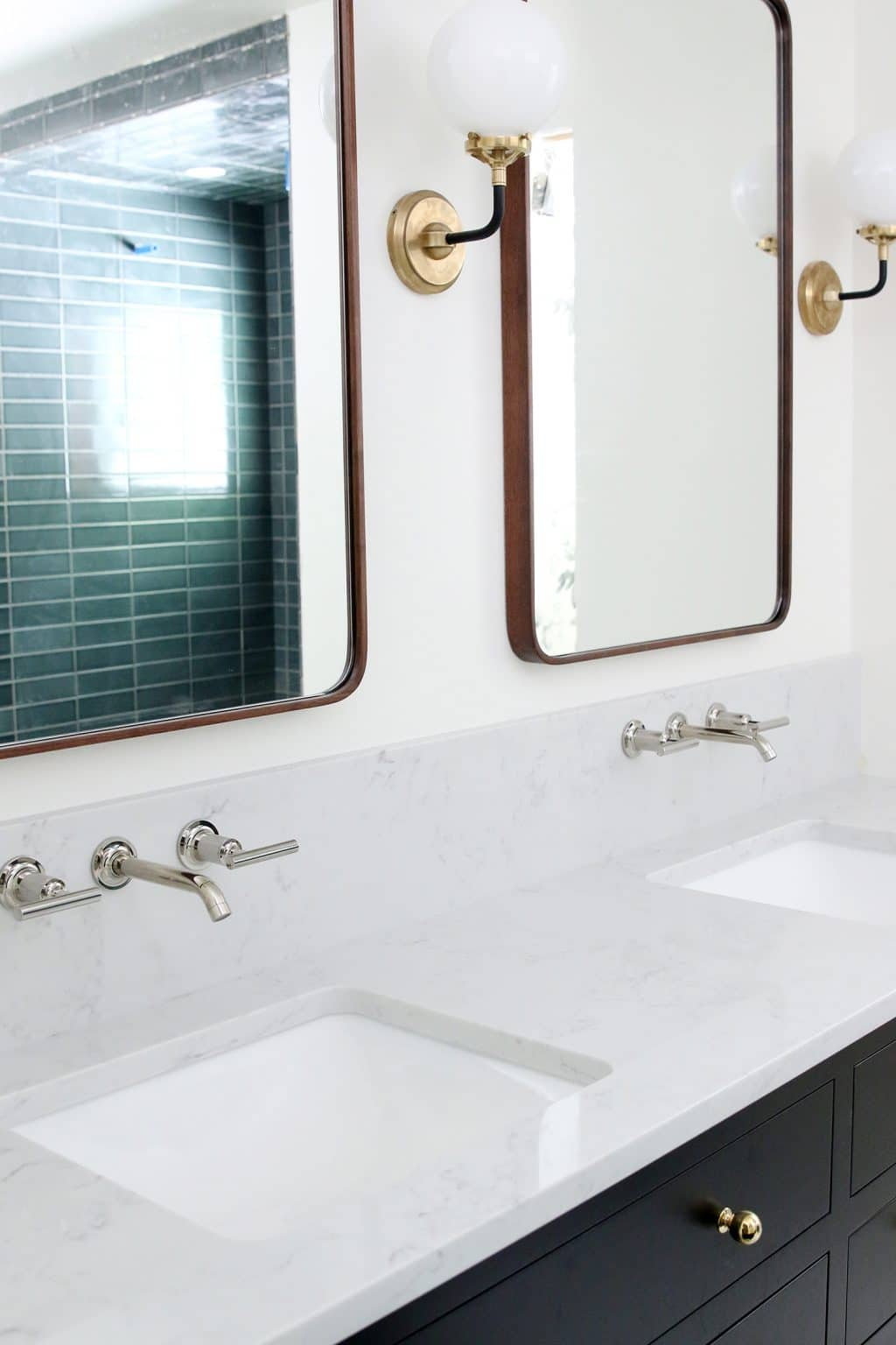 Our Undermount Bathroom Sink Wall Mount Faucets Installed Chris intended for sizing 1024 X 1536
