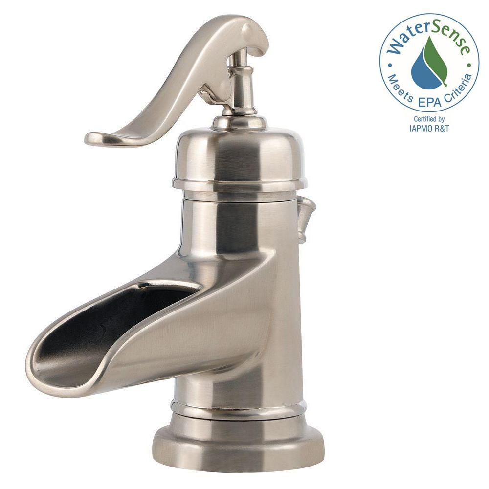 Pfister Ashfield 4 In Centerset Single Handle Bathroom Faucet In Brushed Nickel with regard to size 1000 X 1000